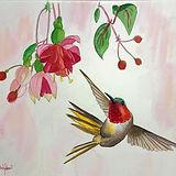 Jill Erickson Watercolors Hummingbird wi