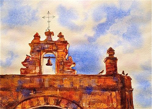 """Capilla de Cristo, Old San Juan"" Watercolor 11x14 Original"