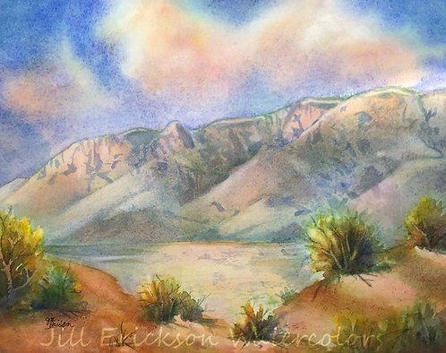 """Colorful Sandia Mountains Study"" 9x12 Original"
