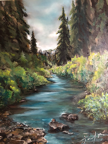 The Creek at Sheep Lake 16x20 Oil on Canvas