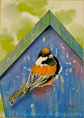 """""""House Hunting"""" Watercolor 14x11 Original"""