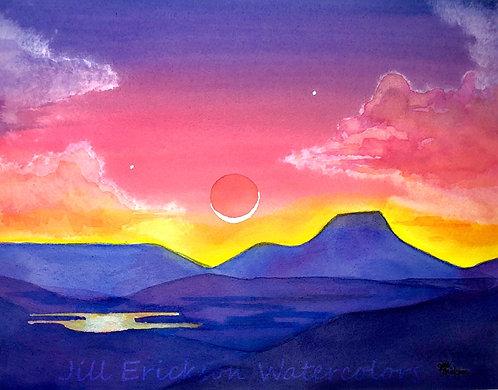 Perdenal and Abiquiu Lake 11x14 Original