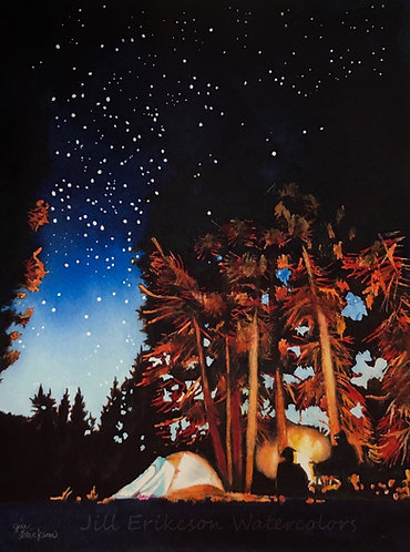 """Campfire Glow""  11 x 9 Original"