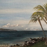 Patricia J Moss Artist The beach at Kihe