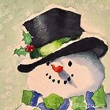 Jill Erickson Watercolors Seahawks Snowm