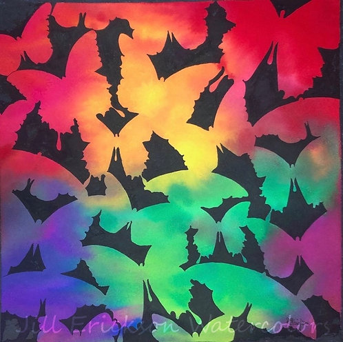 """Flutterbyes"" 11 1/2 x 11 1/2 Original"