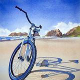 Jill Erickson Watercolors Cannon Beach Bike Ride.jpg