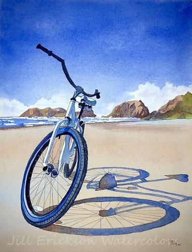 """Cannon Beach Bike Ride""  11 x 9 Original"