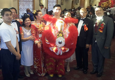 Shaolin Lion Dance at wedding