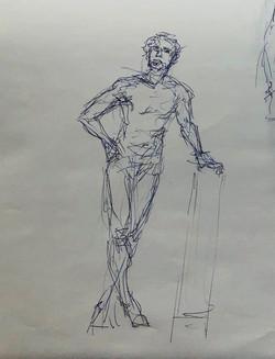 Figure Drawing Pose 5