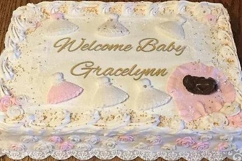 Gracelynn  Baby shower cake
