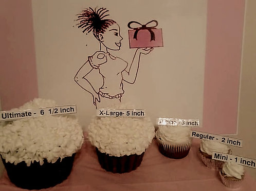 Select-5 Cupcake Size Options -Pick your Cupcake size