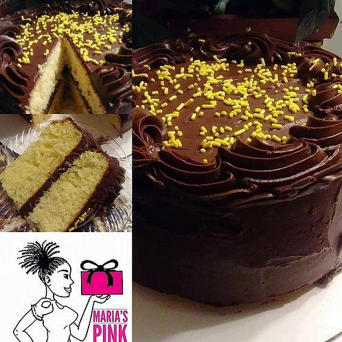 Lemon Drop Cake flavor /Milk Chocolate Frosting -Specialty