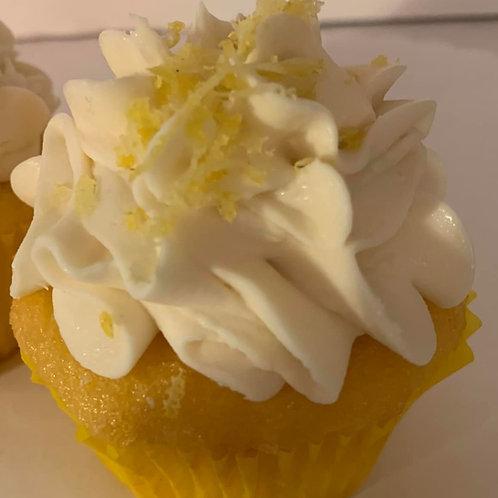 Lemon  Velvet cream cheese $30.00 (6 Cupcakes)