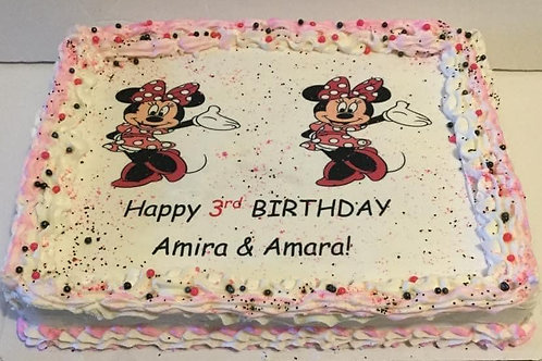 Minnie Mouse- Select this tab for pricing- cakes do not ship