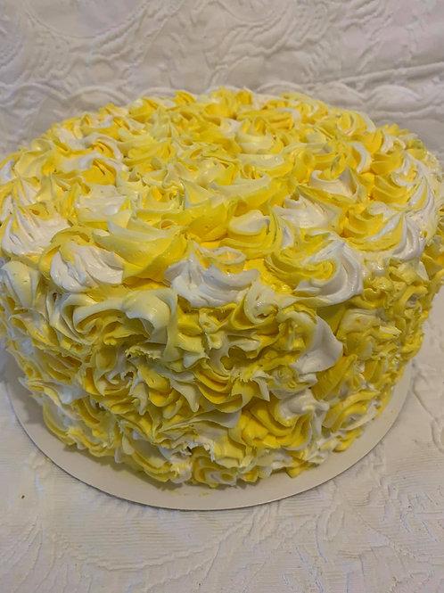 NEW - Lemon  Burst Cake / Lemon/Vanilla frosting- Classic Cake