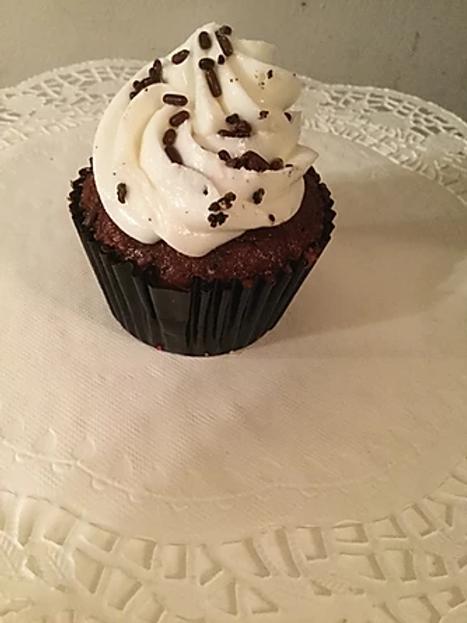 Dark Chocolate Cupcake / Vanilla Frosting & Sprinkles