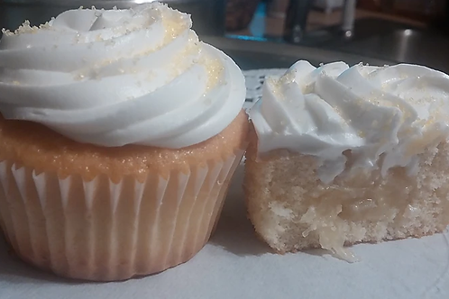 Pineapple  filled Cupcake - Vanilla Flavored
