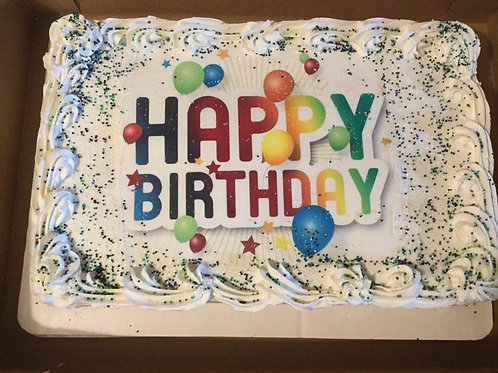 1/4 sheet cake- Price may increase  or remain the same Review  Description