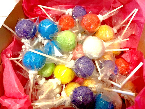 Gourmet Vibrant Assorted Color  Cake pops- Pick up or Shipping Fee Option