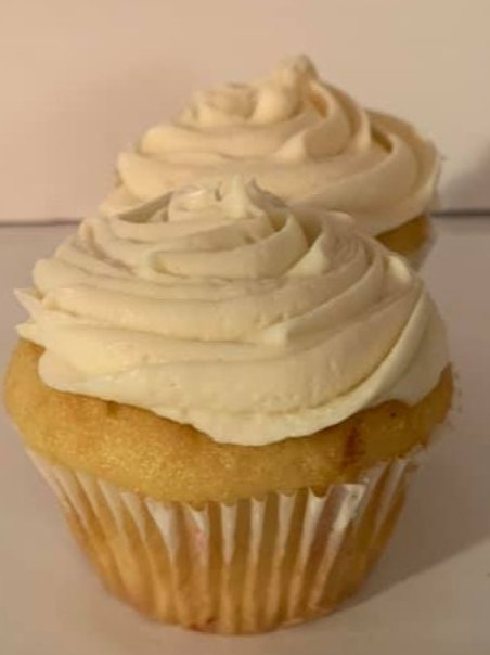 Vanilla Flavored /Cream Cheese Frosting $18.00 (6 cupcakes)