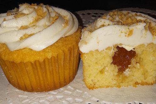 Peach Filled- Vanilla Flavored Cupcake