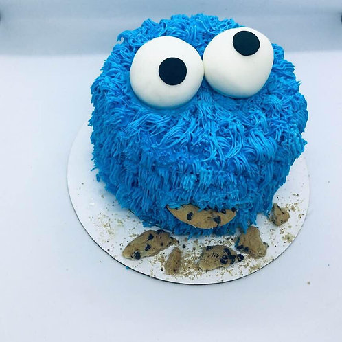 Cookie monster Cake- 6 inch $65.00  or  8 inch $85.00