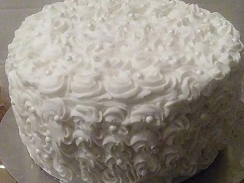 Rosey Swirl Vanilla Bean Cake