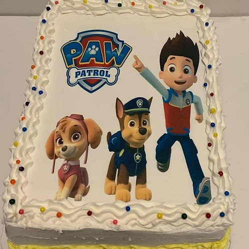 Paw Patrol- Select this tab for pricing- cakes do not ship