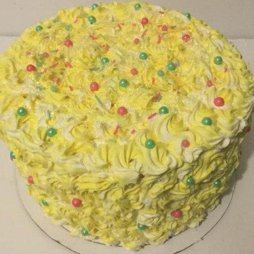 Rosey Posey Swirl- Celebration Cake - Cakes do not Ship