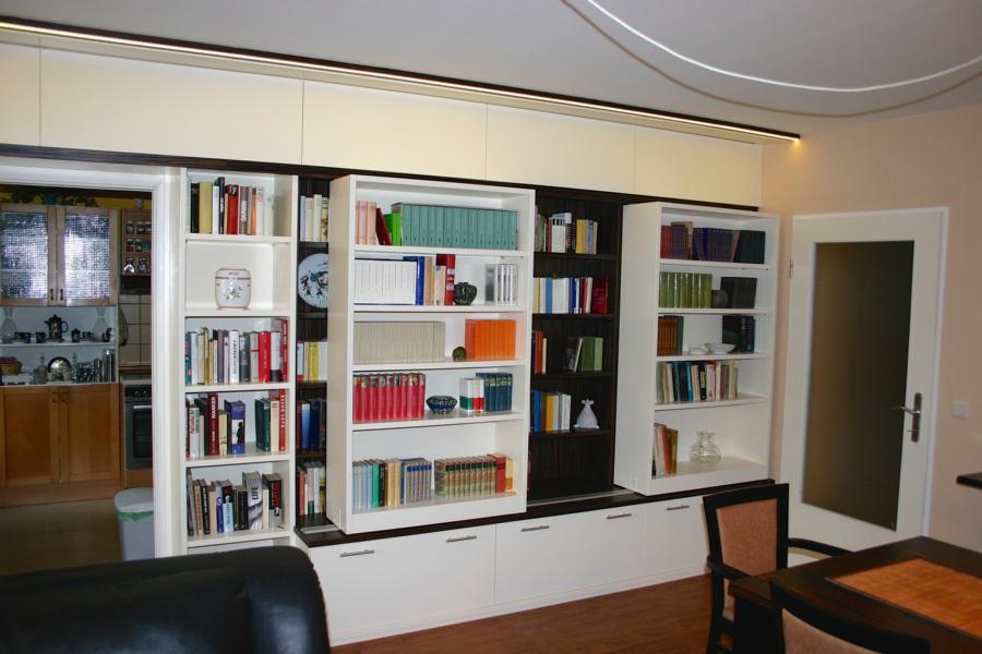 Wohnwand Wohnzimmer Bücherregal