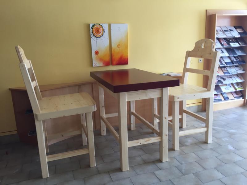 XXL Tischgarnitur Sessel Tisch groß