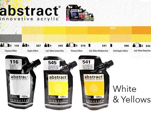 Sennelier Abstract Acrylic Paints - White & Yellows