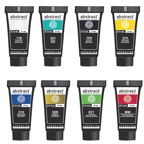 Sennelier Abstract Discovery Set - 8 x 21ml heavy body acrylic colours