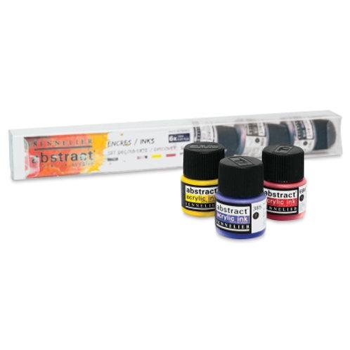 Sennelier Abstract Acrylic Ink - Taster set (6 x 12ml)