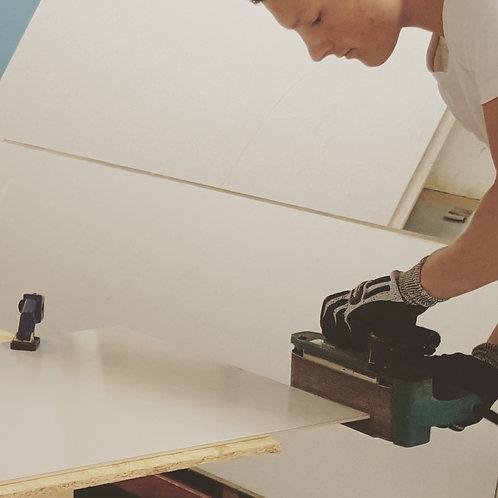 Slipning och målning av kanter, pris per kant