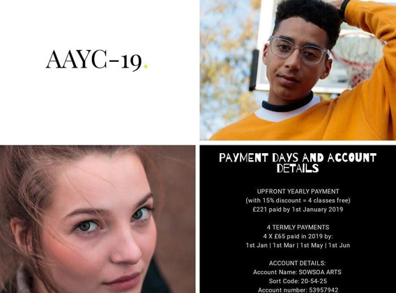 AAYC-19 Payment Days and Account Details