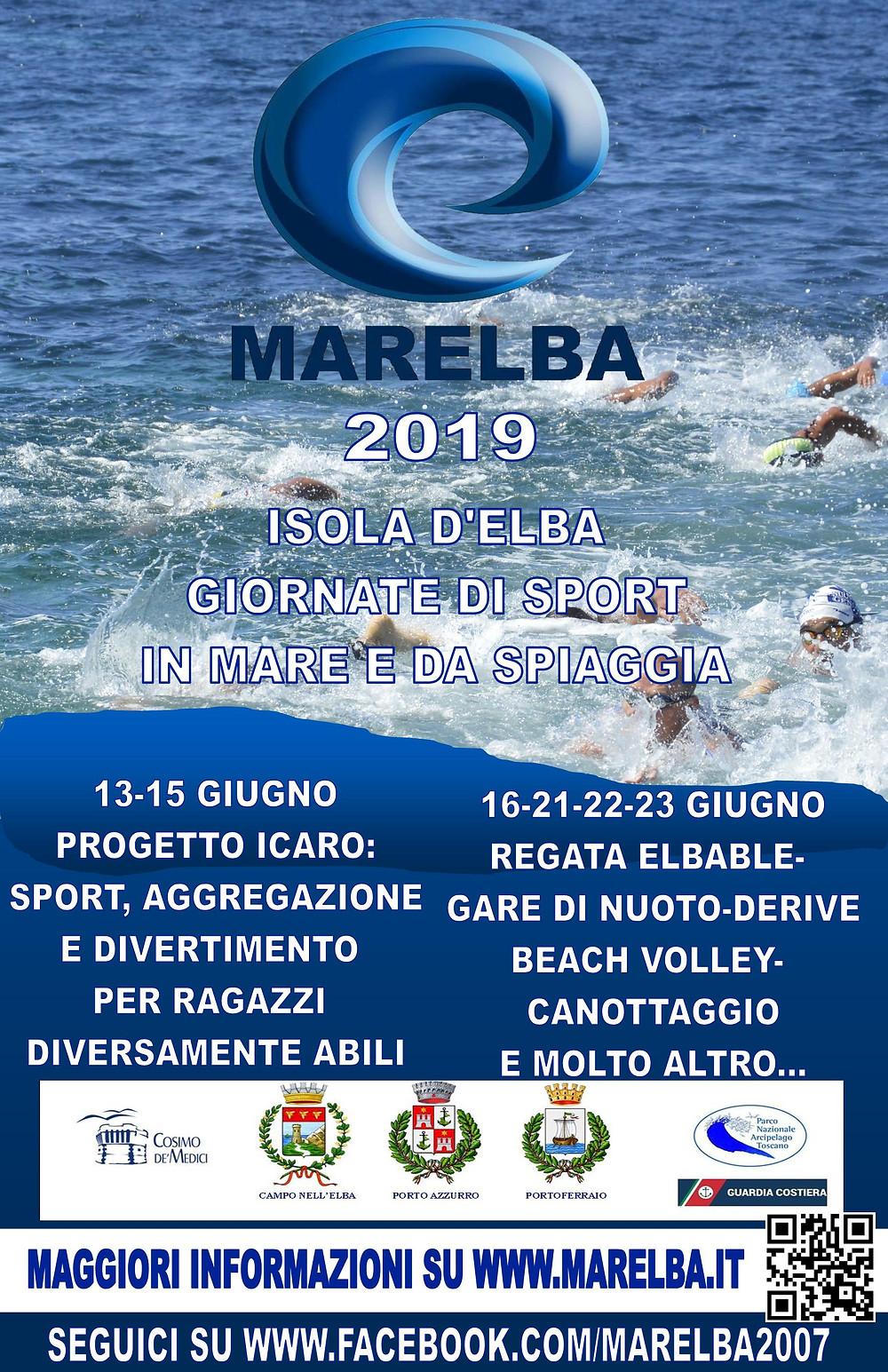 Marelba 2019 locandina eventi sportivi Elba