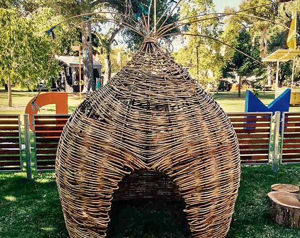 Steel-Framed Woven Hut