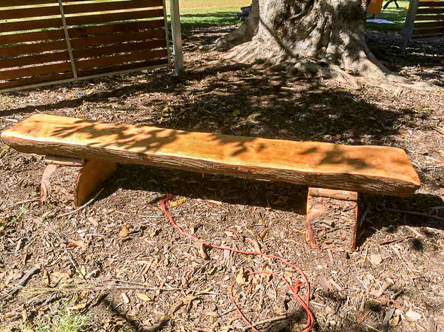 Natural Timber Bench