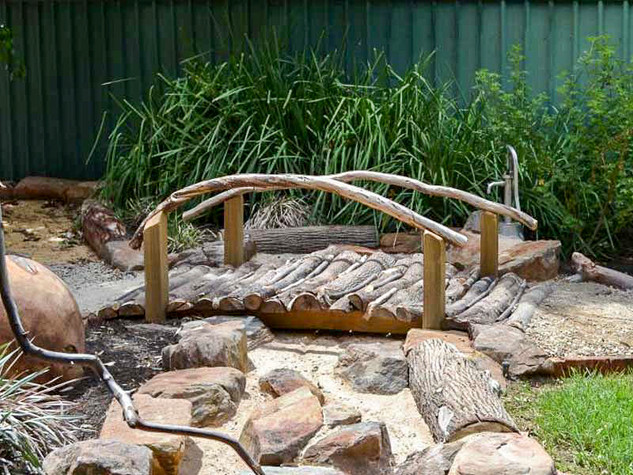 Rustic Timber Bench