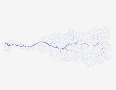 Yampa River Basin: Shreve stream order