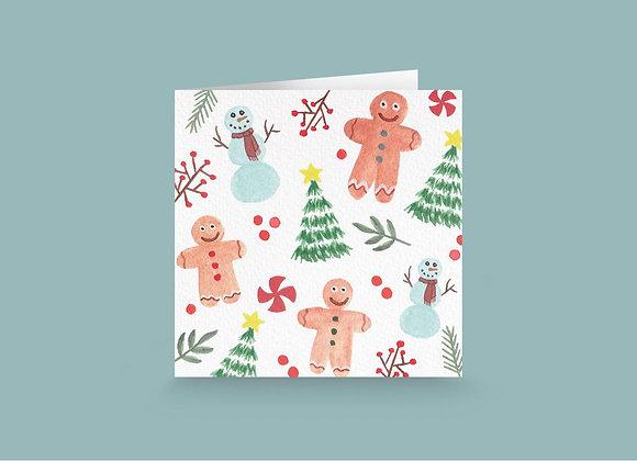 Carte de souhait- Bonhomme de neige