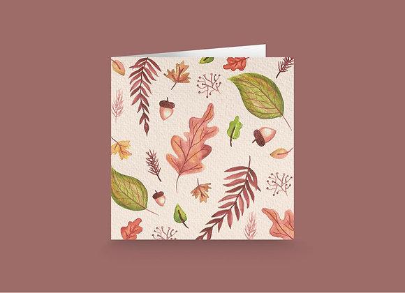 Carte de souhait - Feuille d'automne