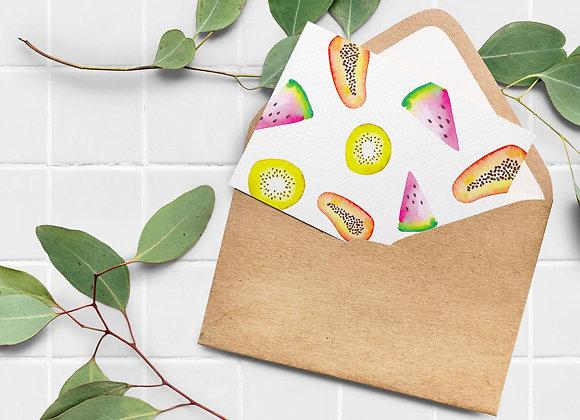 Carte de souhaits - Fruits