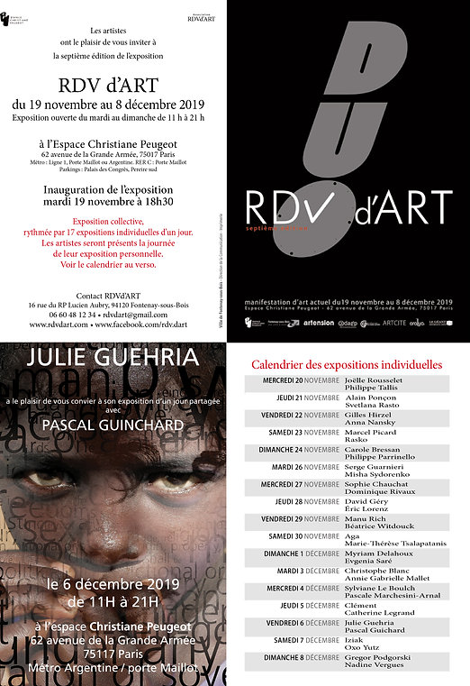 Invitation RDVd'Art 2019 Julie Guehria-O