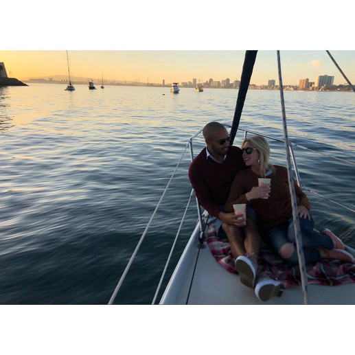 A couple that rented our boat for their date night