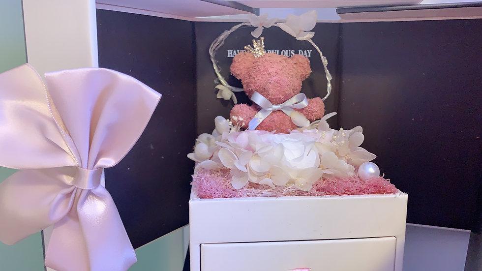Gift Box - Bear - Pink