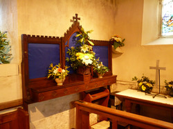 Flowers in Side Chapel for Easter