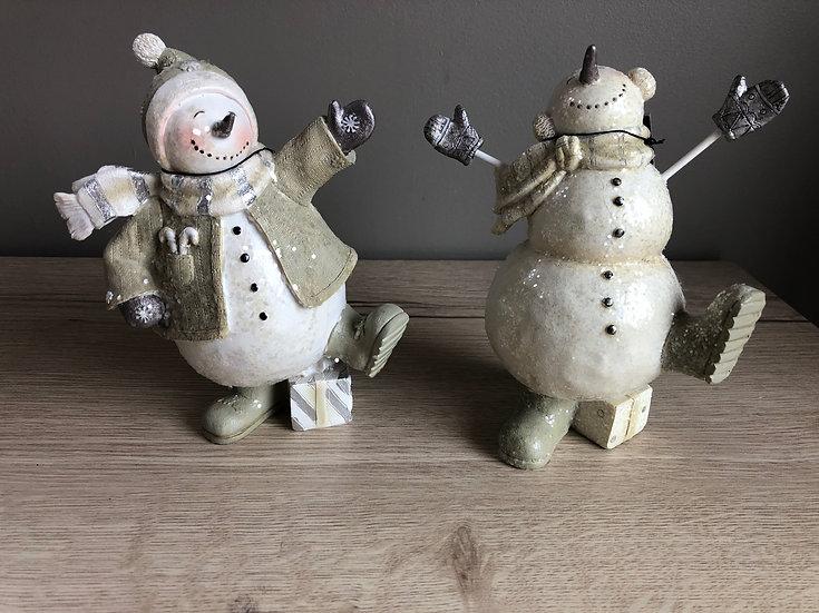 Ensemble 2 bonhommes de neige